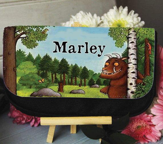 Personalised The Gruffalo pencil case gaming bag travel cosmetics makeup clutch bag on Etsy, £8.99