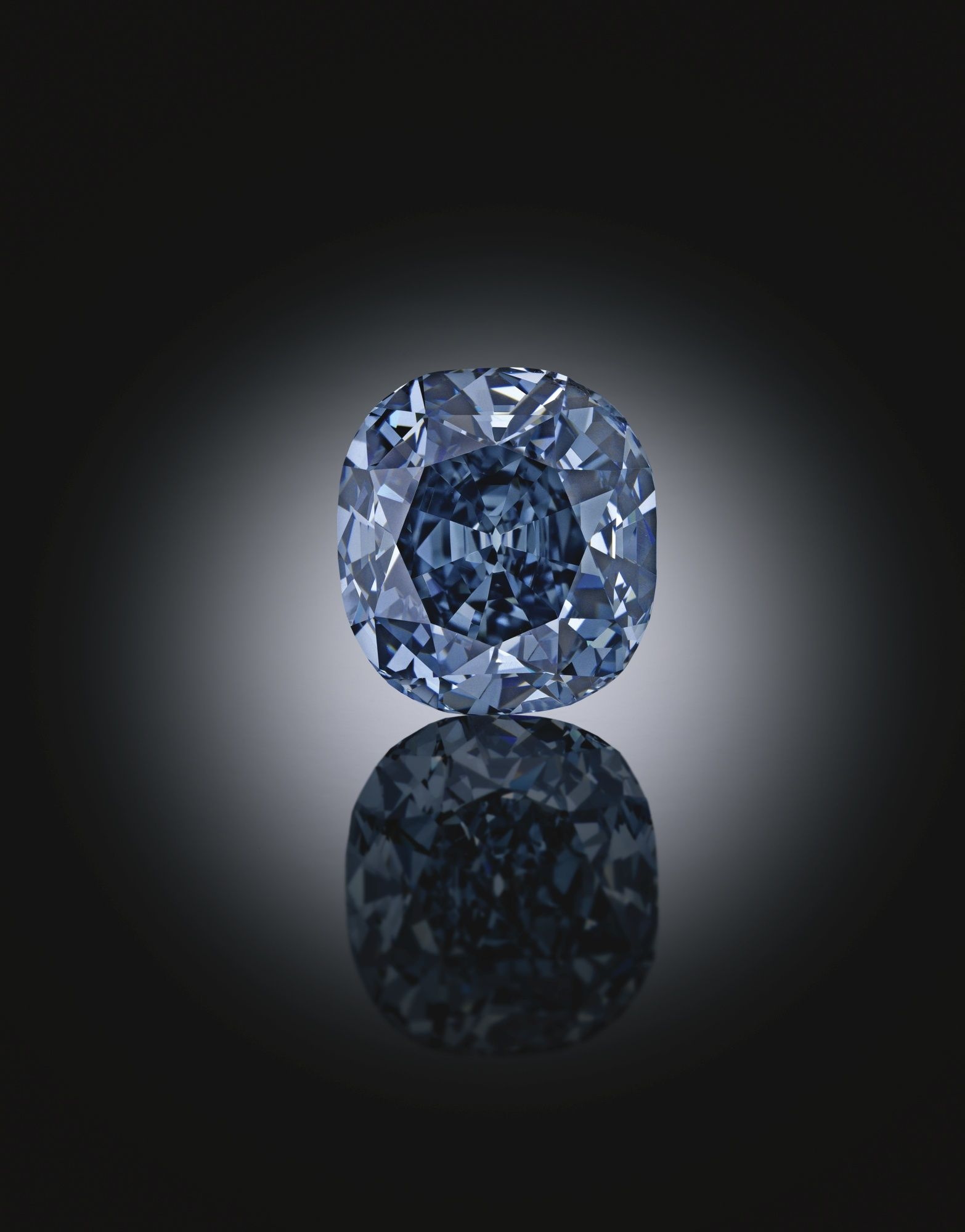Magnificent and Rare Platinum Fancy Deep Blue Diamond and Diamond