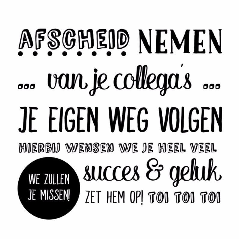 Afscheid Annemarie Schilder Nieuwe Baan Kaart Maken