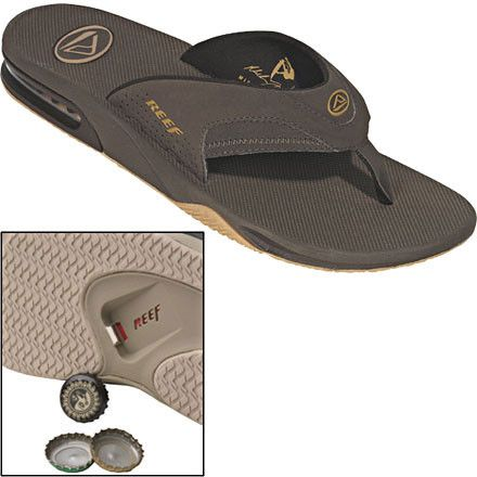 274b07ae26d3 Reef Fanning Bottle Opener Flip-Flops -- seems cool in theory but do I  really want to drink from a bottle that s been opened from the bottom of  someone s ...