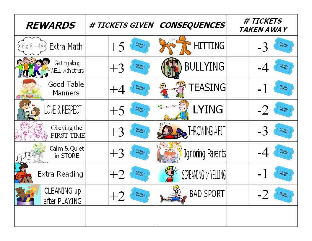 Gael S Crafty Treasures Good Behavior Chore Chart For The Kids