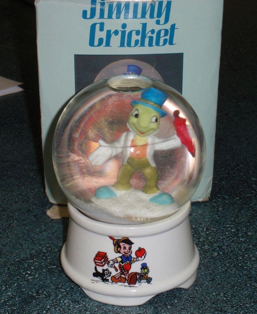 Vintage Pinocchio Jiminy Cricket Music Box When You Wish Upon A Star Disney Jiminy Cricket Music Box Pinocchio