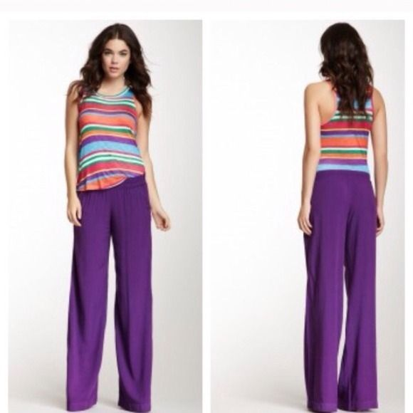 Splendid Purple Woven Pull Over Pants NWT/ No Trades/ No PayPal/ Size S Splendid Pants