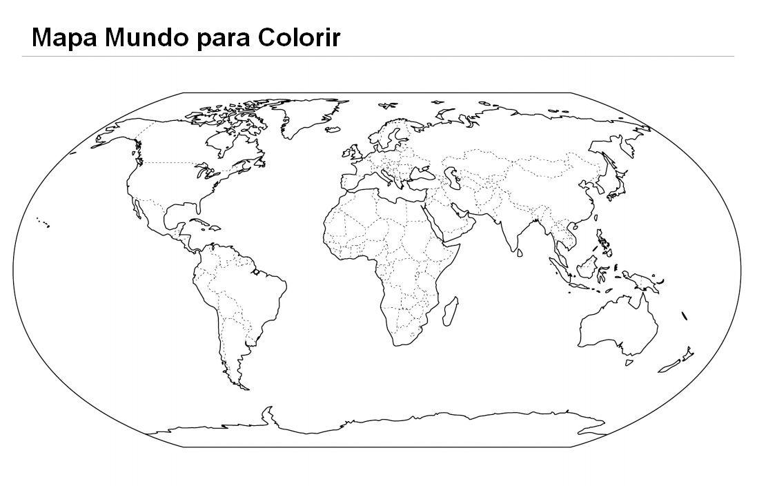 Resultado De Imagem Para Mapa Do Mundo Para Pintar Mapa Mundi