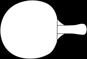 Table Tennis Racket Outline Clip Art Vector Clip Art Online Royalty Free Public Domain Table Tennis Table Tennis Racket Ping Pong Paddles