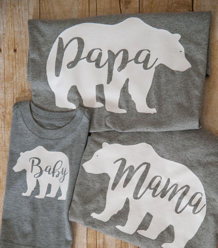 59d4a902 Mama Papa Baby Bear, Mama Bear, Papa Bear, Baby Bear, Family t shirts by  LucysChicBoutique on Etsy