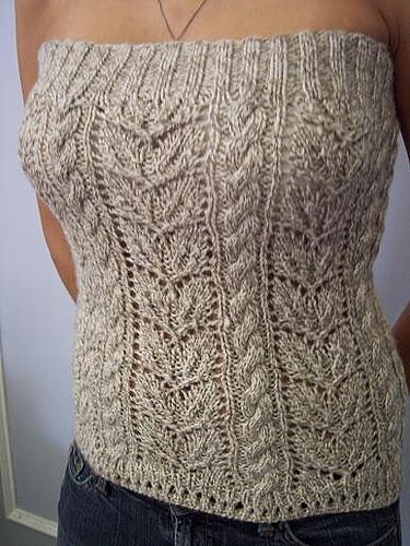 cable4a by funkitman, via Flickr - would be a cute alternative to a sweater vest over a white top