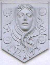 Jugendstil-Ornamentik an Häusern in Ahlbeck auf Usedom, Germany