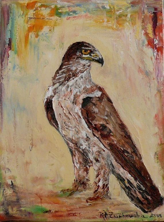 Eagle Bird Art Impression Original Fine Oil Painting águila Europe Artist Linen #ImpressionismImpasto