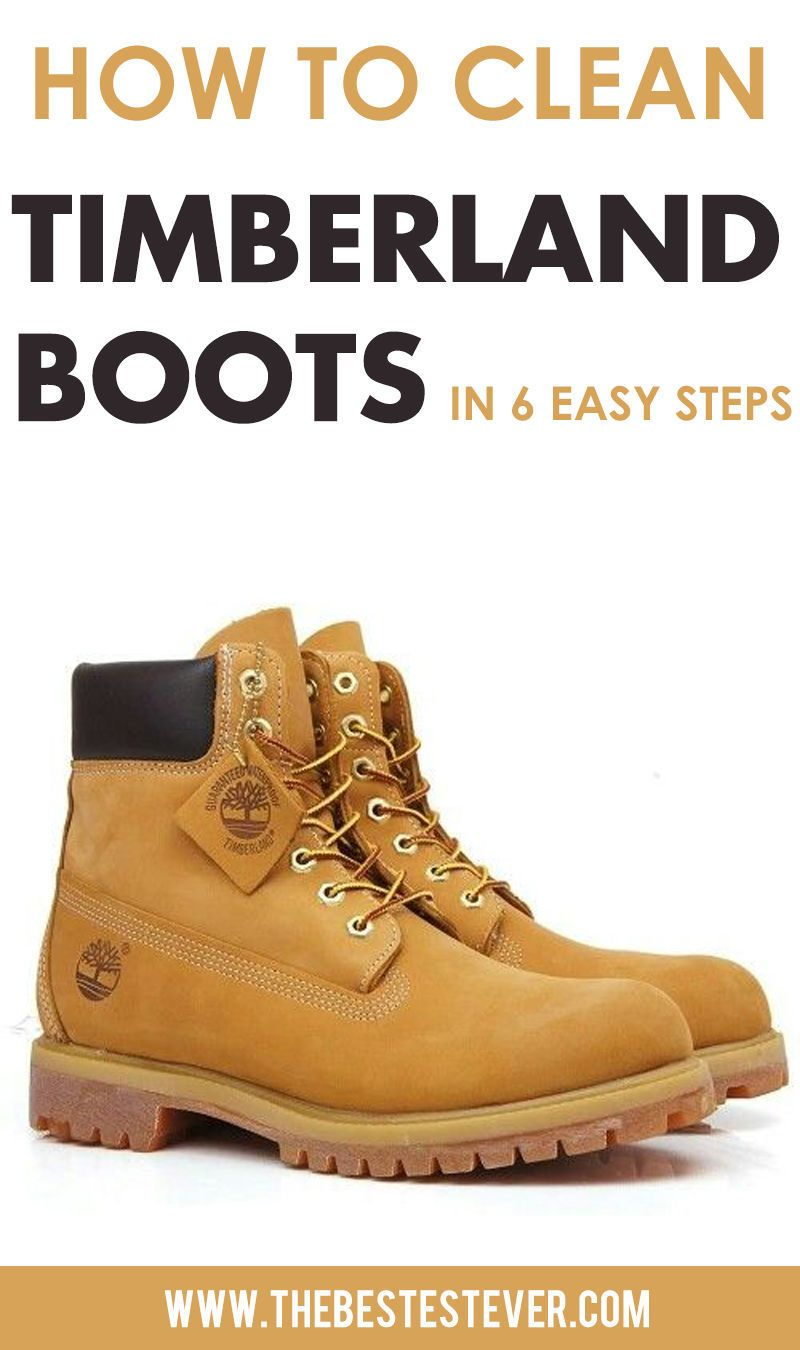 how to clean nubuck timberland bottes