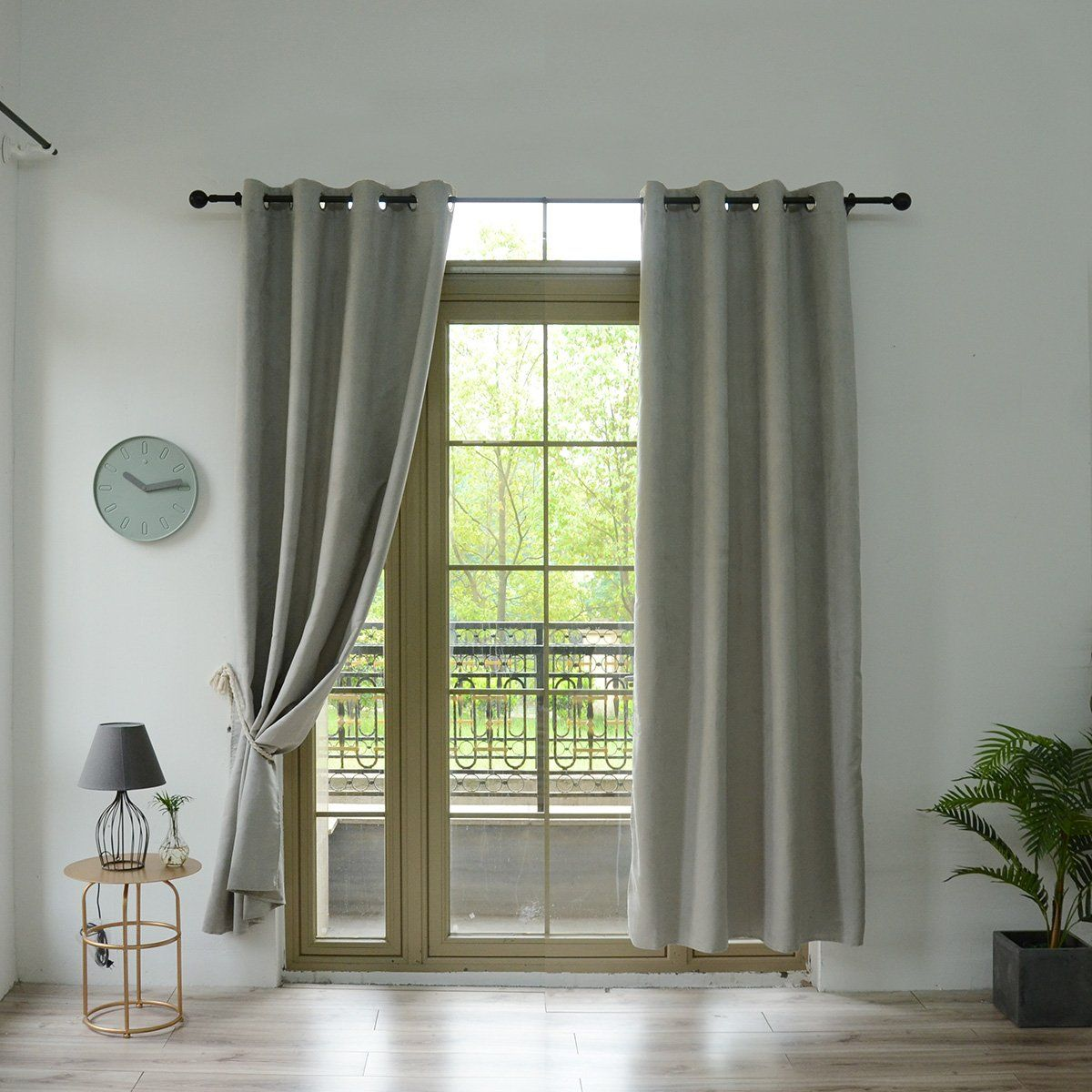 Wellyoung Suede Thermaback Blackout Curtain Panelpaisley Grommet Curtain Set 52 Wide Grey2 Panels 52 W 63 L Grommet Curtains Blackout Curtains Curtain Sets