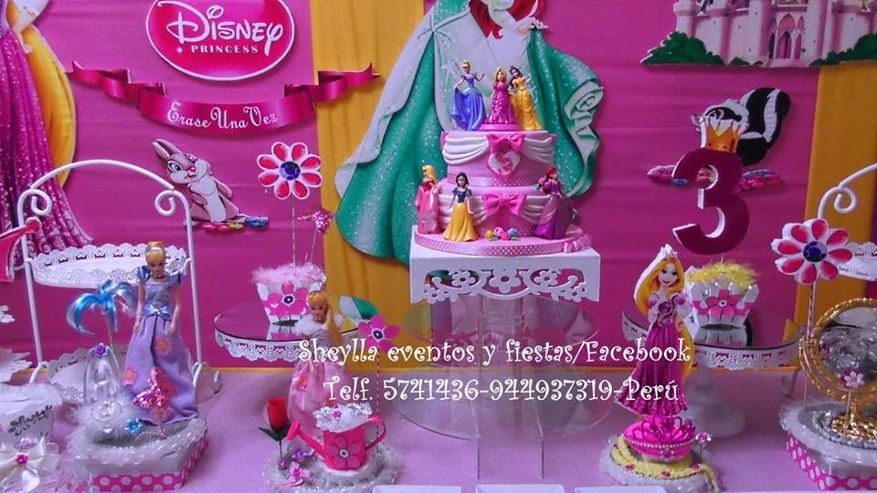 Torta princesas, Cinderella, Bella durmiente, Raspunzel