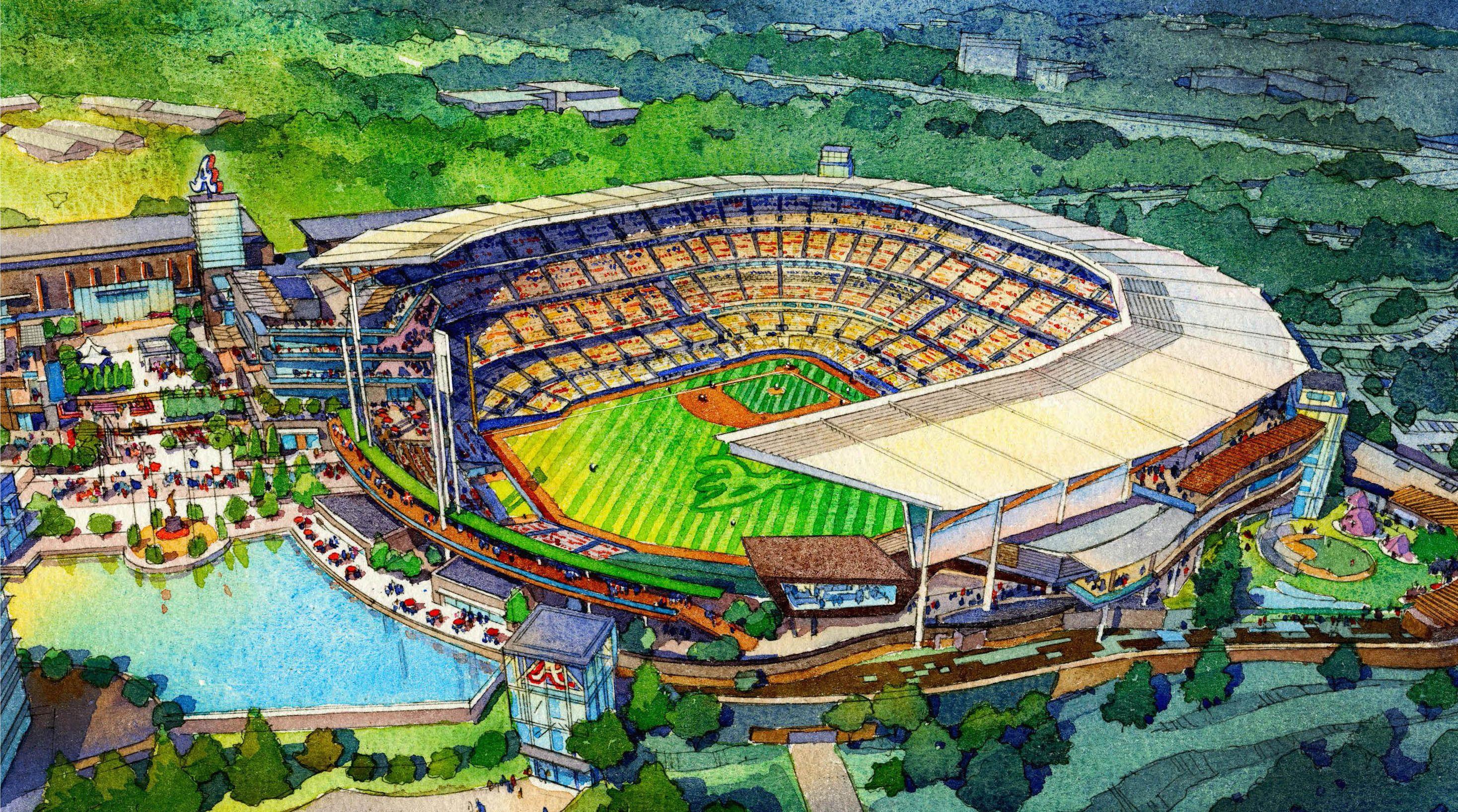 New Braves Stadium 2017 Suntrust Park Atlanta Braves Braves