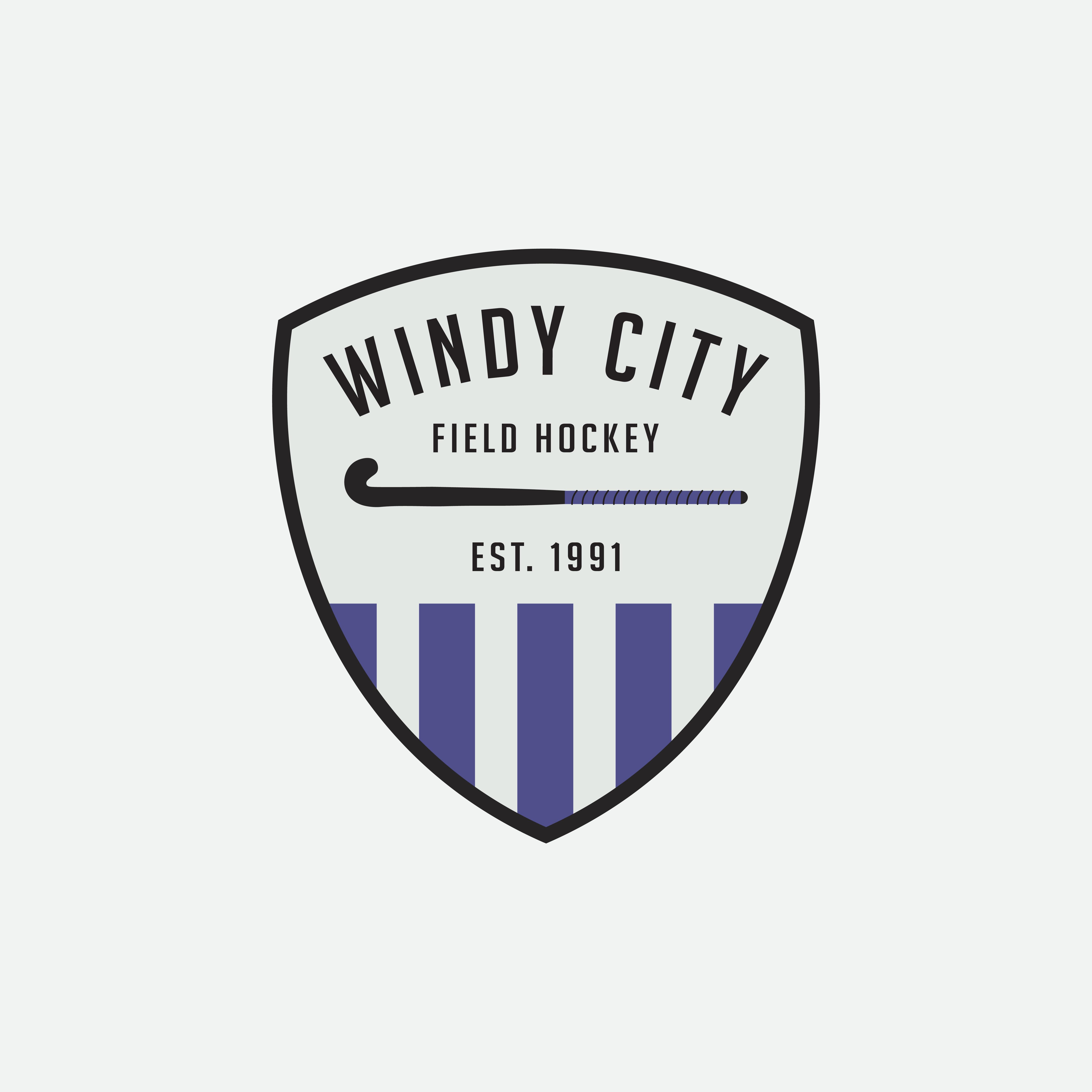 Windy City Field Hockey Logo Designed By Amari Creative Windycity Fieldhockey Amari Am Branding Design Studio Creative Branding Design Creative Branding