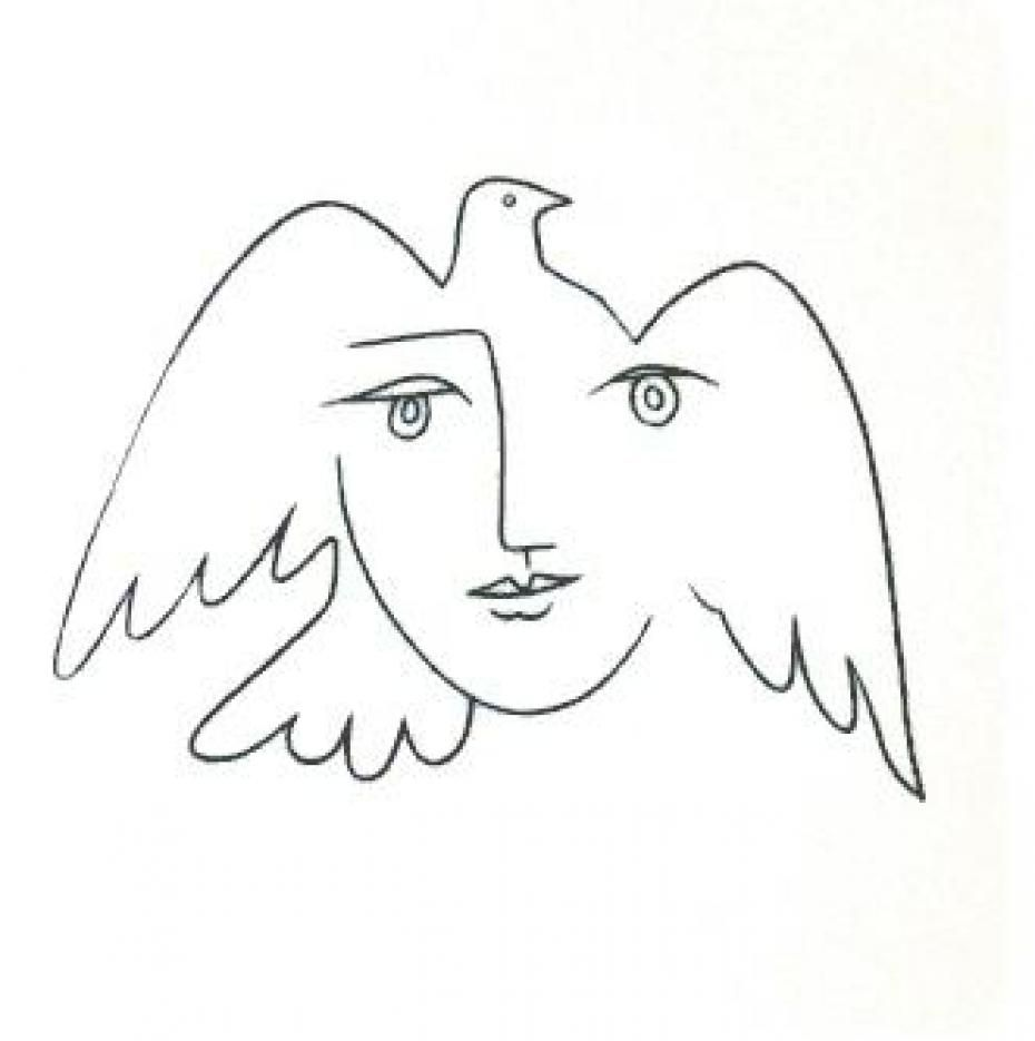 Picasso Line Drawing Tattoo : Colombe de la paix peintre recherche google birds