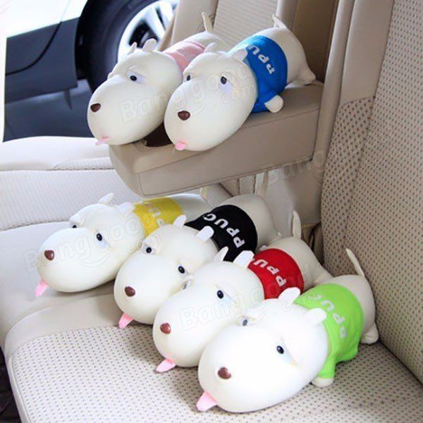Car Deodorant Purify Air Freshener Cartoon Dog Bamboo Charcoal Bag