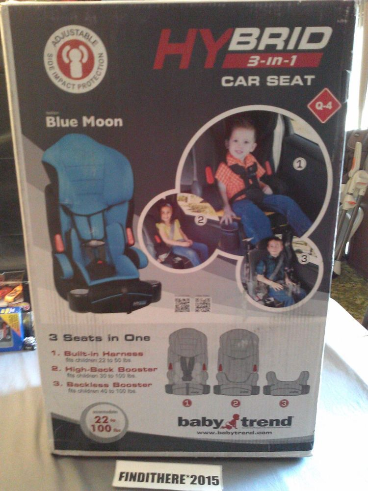 Hybrid 3 In 1 Car Seat By Baby Trend 22lbs To 100lbs Blue Moon