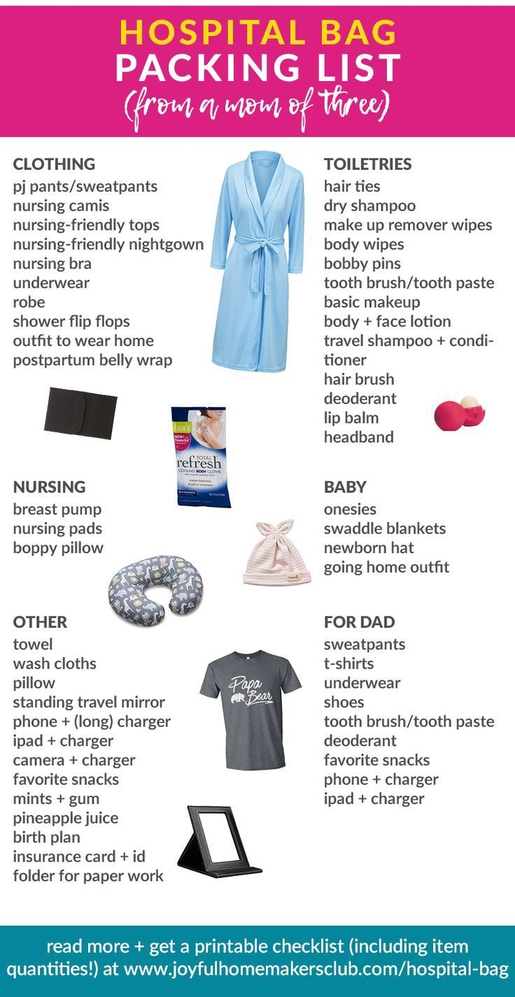 The experienced momus hospital bag checklist the systems mama blog