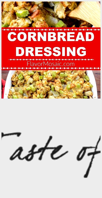 Easy Cornbread Dressing - taste mosaic