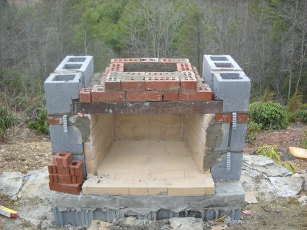 How To Build Outdoor Fireplace Building An Outdoor
