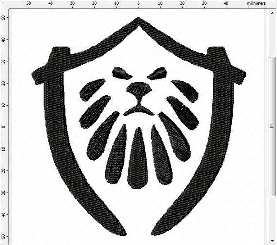 World of Warcraft MoP Alliance Symbol Machine Embroidery Design by…