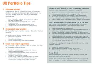 UX Portfolio Tips from Jason Mesut's website.   Portfolio ...