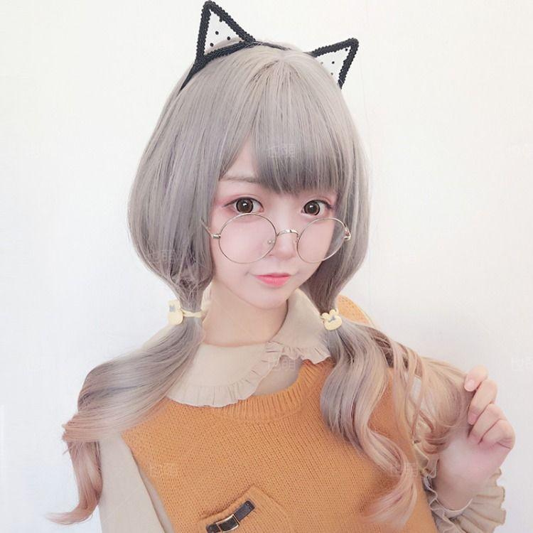 Japanese Anime Long Curly Wigs Anime Hairstyles In Real Life Anime Hair Kawaii Wigs