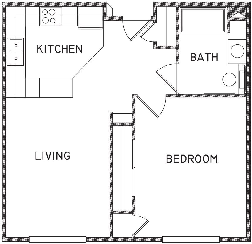 650 Sq Ft Floor Plans Google Search Small House Plans Tiny House Floor Plans House Floor Plans