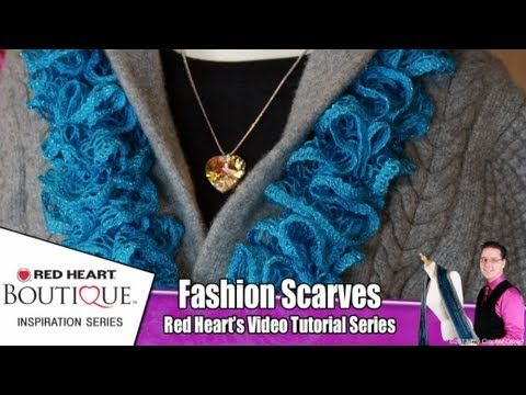 How To Knit Red Heart Sashay Scarves - YouTube | Knitting ...