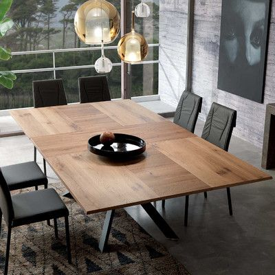 Quadron Extendable Dining Table In 2021 Extendable Dining Table Extension Dining Table Contemporary Dining Table