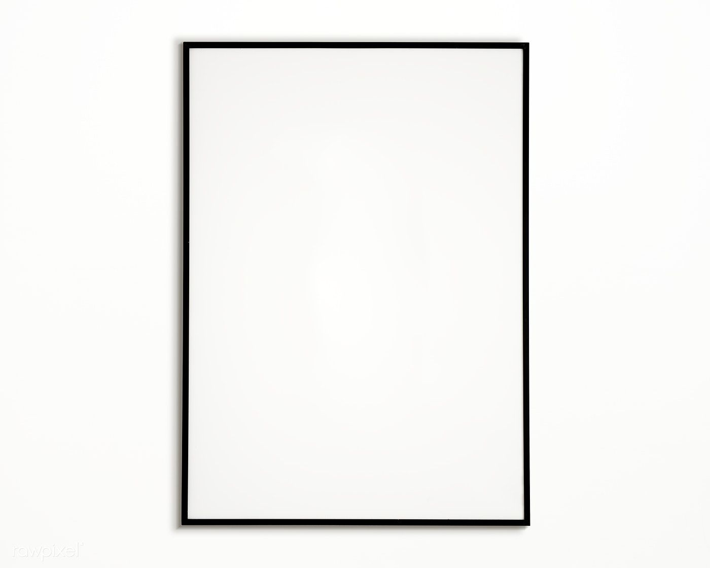 Download Premium Psd Of One Photo Frame Isolated On White Wall 328101