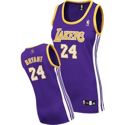 dfc36c3526c Kobe Bryant Authentic In Purple Adidas NBA Los Angeles Lakers  24 Women s  Road Jersey