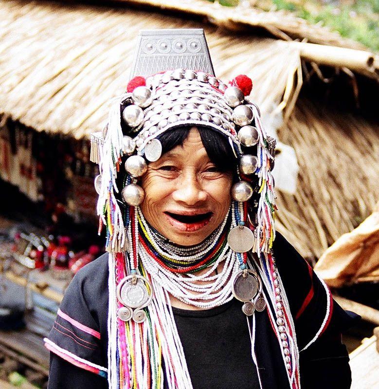 Aka Tribe, Thailand Tribes women, Tribal india, Thailand