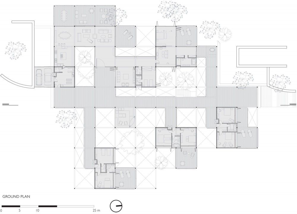 Grid House Fgmf Arquitetos Drawing House Plans Grid Architecture Architectural Floor Plans