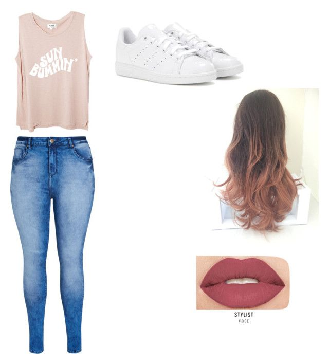"""""""Untitled #1"""" by laylamin ❤ liked on Polyvore featuring City Chic, adidas and Smashbox"""