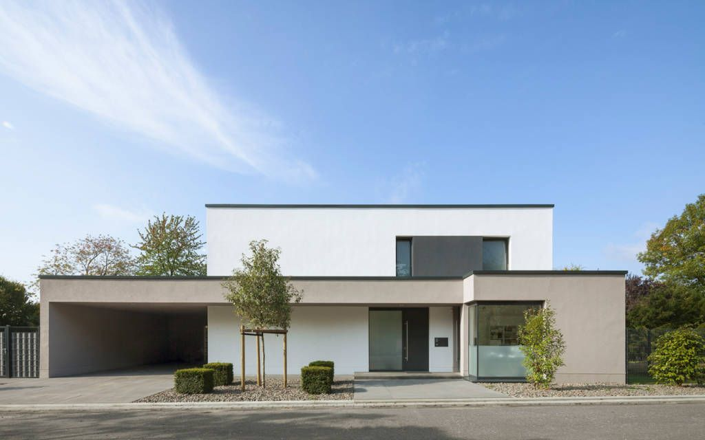 Straßenansicht minimalistische häuser von skandella ...
