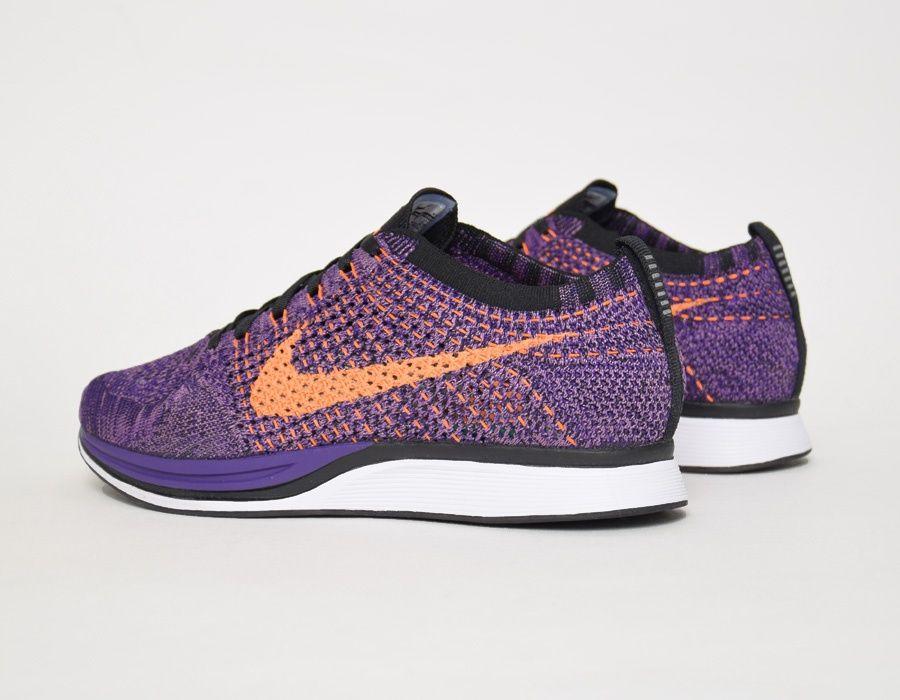 pretty nice c8ad3 1ffa1  Nike Flyknit Racer Purple Orange  sneakers