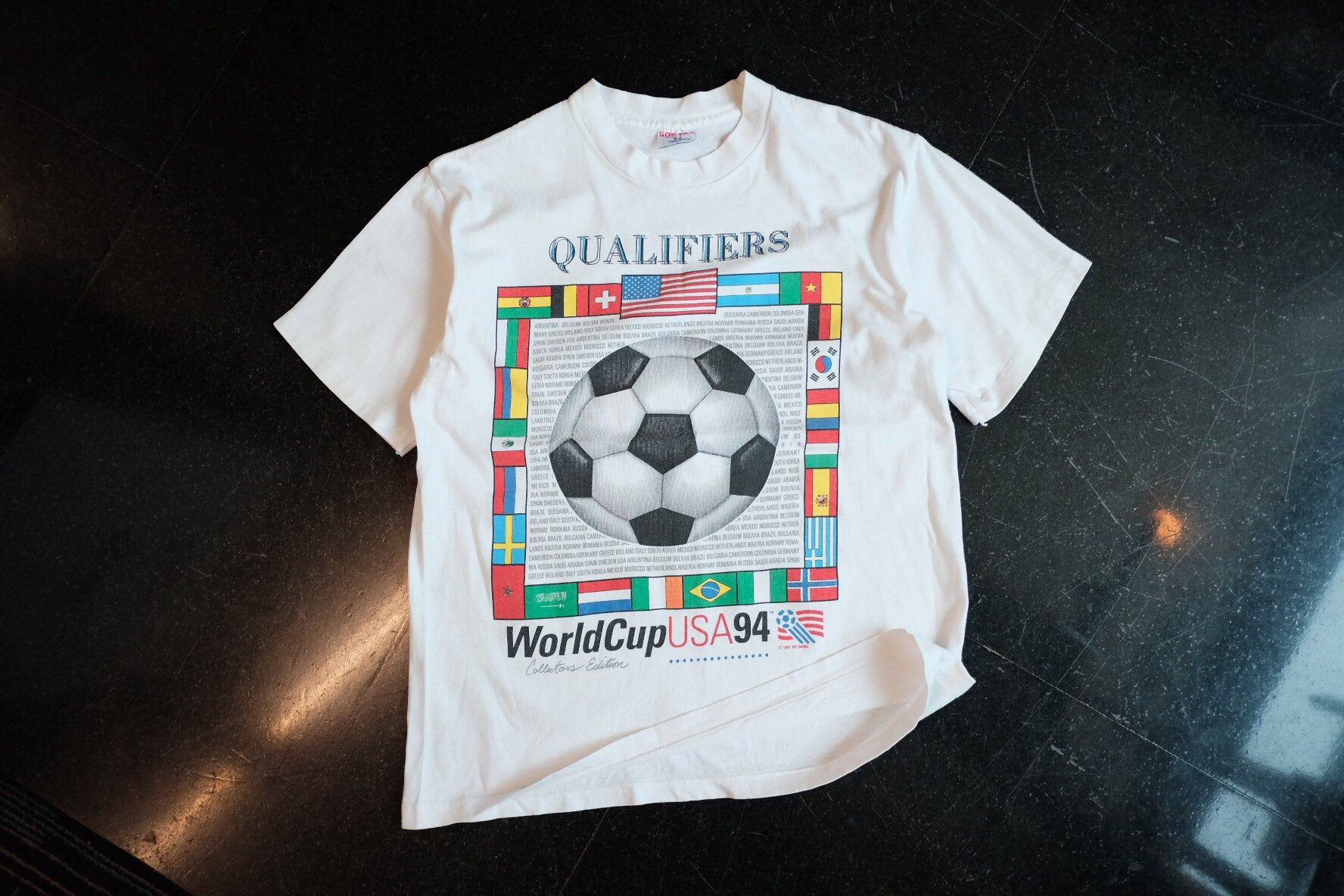 World Cup Usa 1994 T Shirt World Soccer Qualifies Size L In 2020 T Shirt Shirts World Cup