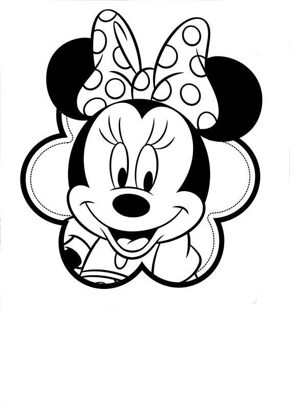 dibujos de minnie para colorear e imprimir  bordados  Pinterest