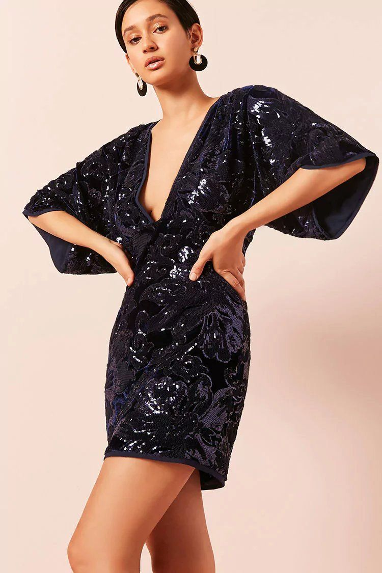 aa89f320029f Product Name:Contemporary Velvet Sequin Dress, Category:dress, Price ...