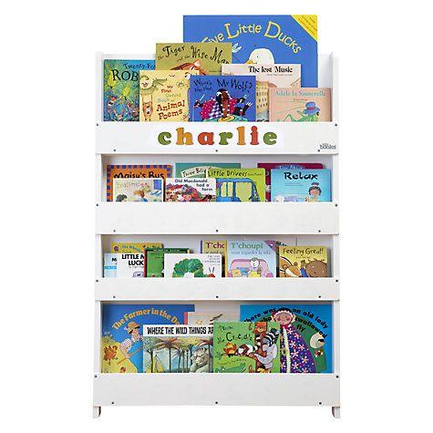 premium selection b13dd e52aa Tidy Books Personalised ABC Bookcase, White | Finley bedroom ...