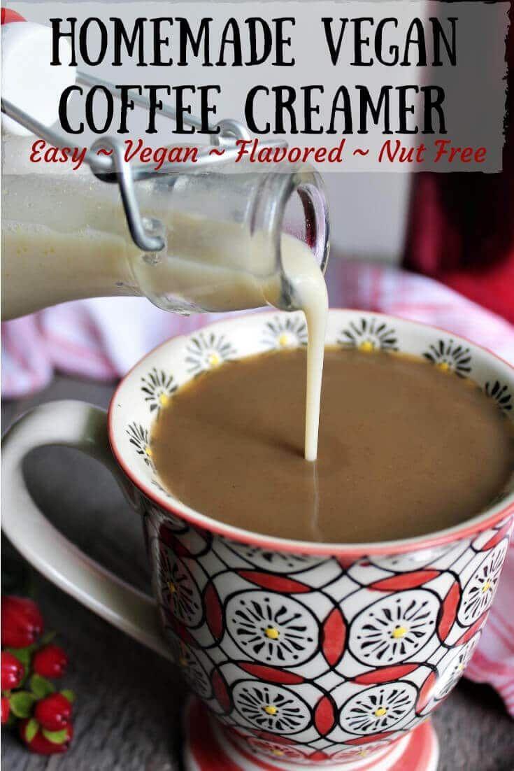 An easy way to make homemade vegan coffee creamer you can