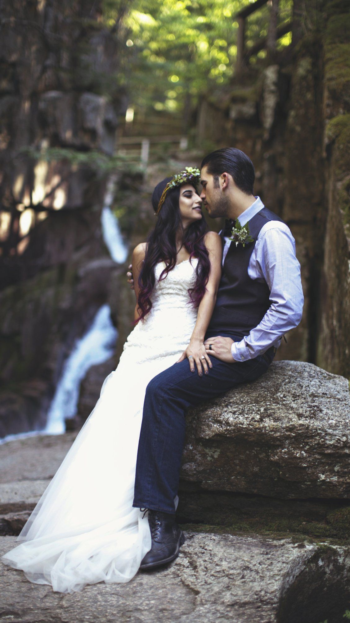 High school sweethearts marry in enchanted forest high school