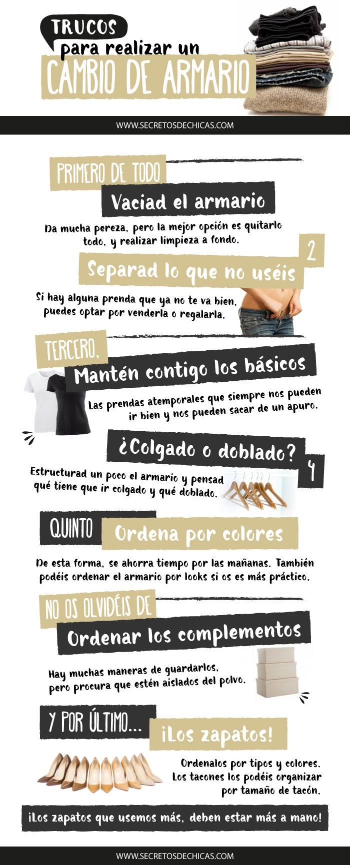 16a7b7042 TRUCOS PARA REALIZAR UN CAMBIO DE ARMARIO - Secretos de Chicas by ...