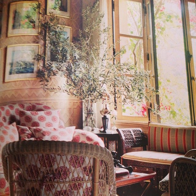 Love the new Marella Agnelli book. So inspiring and beautiful. Love this sunroom