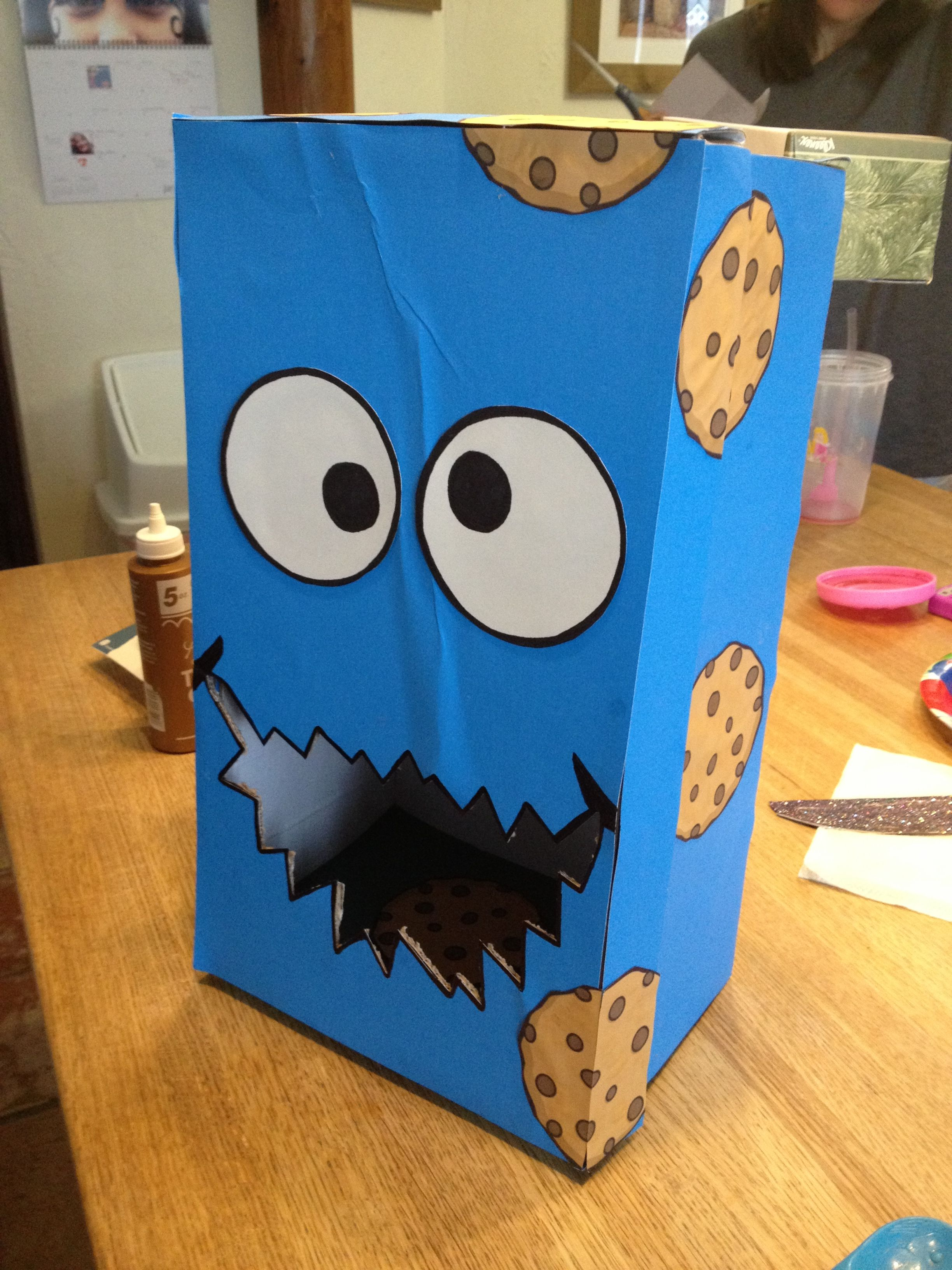 Cookie Monster valentines day box – Cookie Monster Valentine Cards