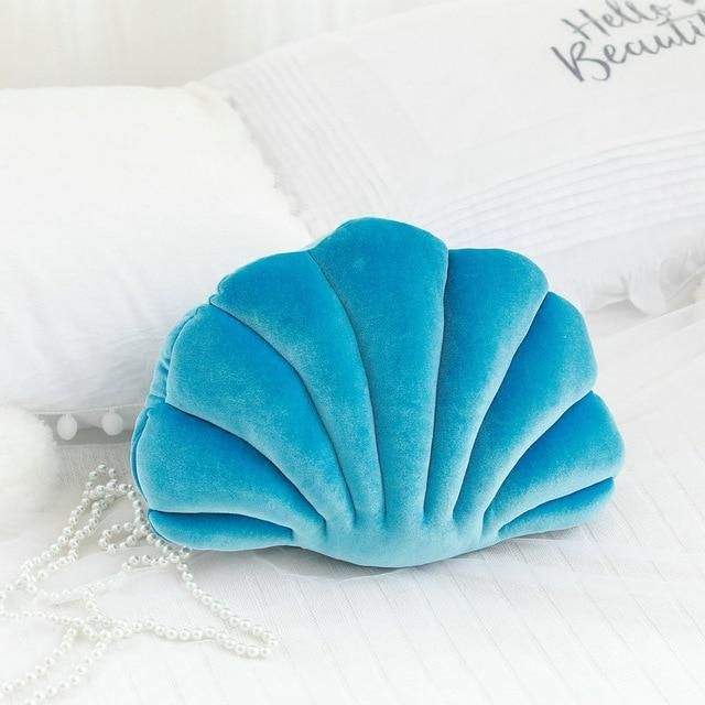 Princess Shell Pillows - about 34X25cm / blue