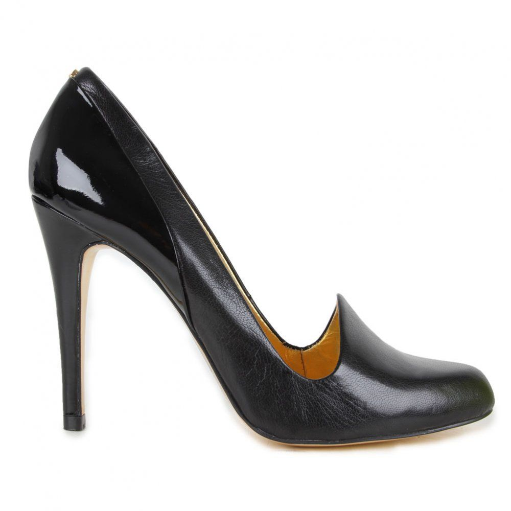 83f4ad79d9e Ted Baker Womens Black Kelmat Leather Court Shoe Leather Court Shoes