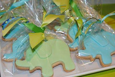 blue/green cookies