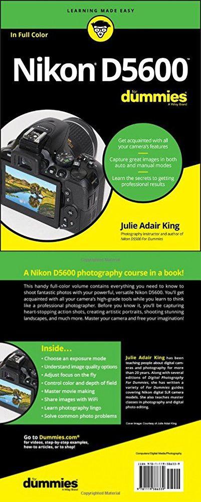 Nikon D5600 For Dummies (For Dummies (Lifestyle))   Books